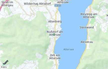Stadtplan Nußdorf am Attersee