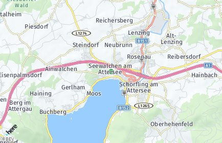 Stadtplan Seewalchen am Attersee