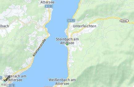 Stadtplan Steinbach am Attersee OT Kaisigen