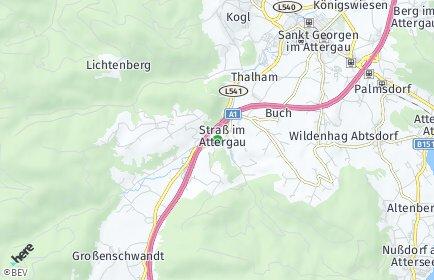 Stadtplan Straß im Attergau