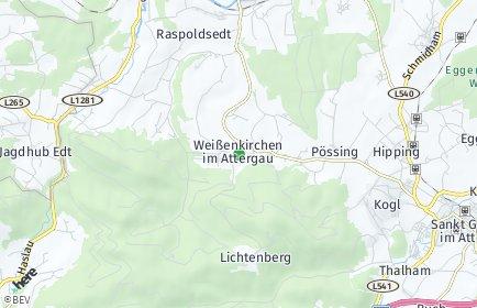 Stadtplan Weißenkirchen im Attergau