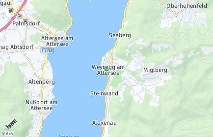 Stadtplan Weyregg am Attersee
