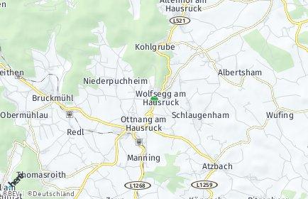 Stadtplan Wolfsegg am Hausruck