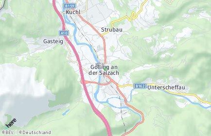 Stadtplan Golling an der Salzach