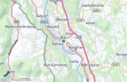 Stadtplan Hallein