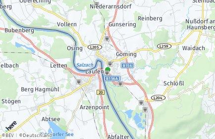 Stadtplan Oberndorf bei Salzburg