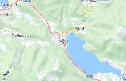 Stadtplan Sankt Gilgen