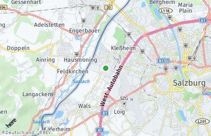 Stadtplan Wals-Siezenheim OT Himmelreich