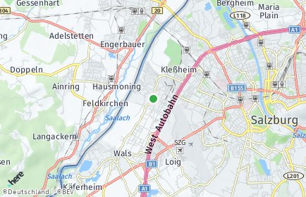 Stadtplan Wals-Siezenheim OT Kleßheim