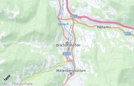 Stadtplan Bischofshofen OT Kreuzberg