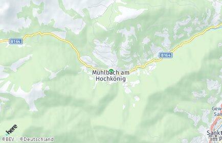 Stadtplan Mühlbach am Hochkönig