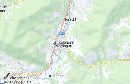 Stadtplan Sankt Johann im Pongau