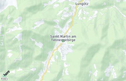 Stadtplan Sankt Martin am Tennengebirge