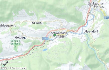 Stadtplan Schwarzach im Pongau