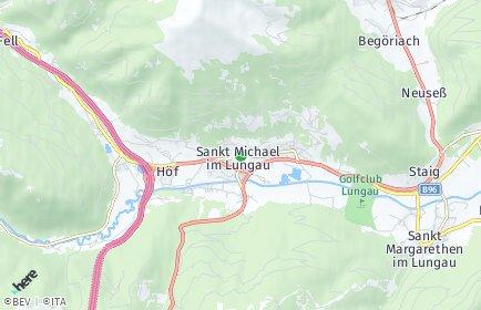 Stadtplan Sankt Michael im Lungau