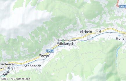 Stadtplan Bramberg am Wildkogel