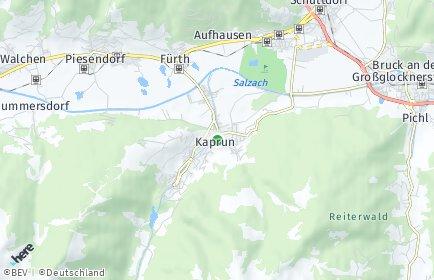 Stadtplan Kaprun