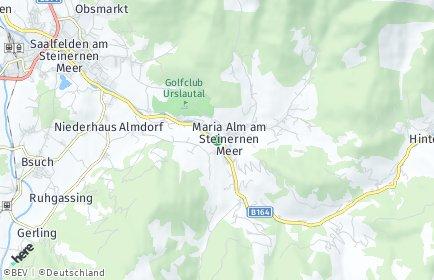 Stadtplan Maria Alm am Steinernen Meer