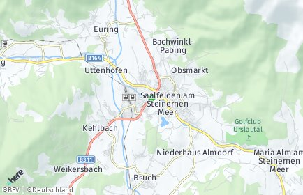 Stadtplan Saalfelden am Steinernen Meer OT Obsmarkt