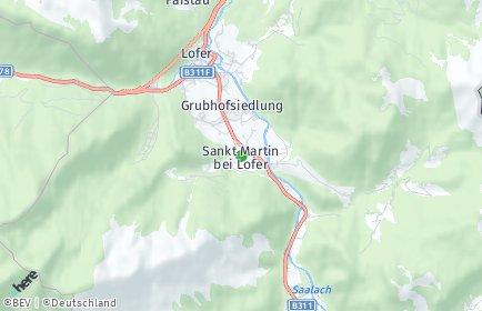 Stadtplan Sankt Martin bei Lofer