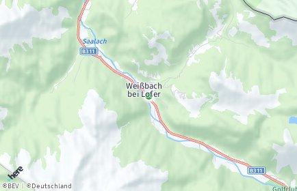 Stadtplan Weißbach bei Lofer
