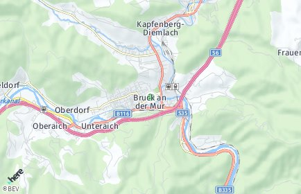 Stadtplan Bruck an der Mur OT Heuberg