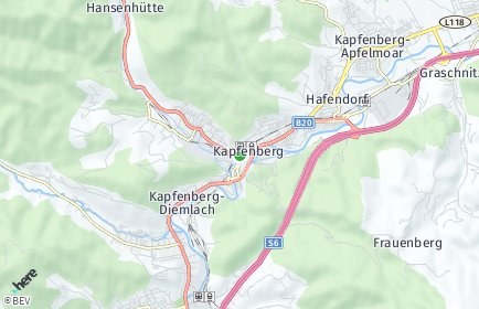 Stadtplan Kapfenberg OT Floning