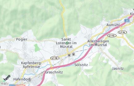 Stadtplan Sankt Lorenzen im Mürztal