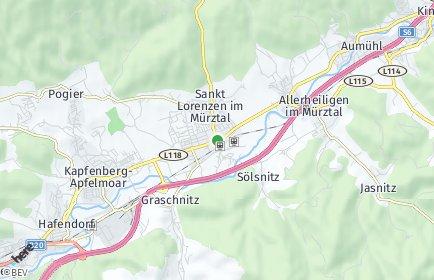 Stadtplan Sankt Marein im Mürztal