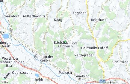 Stadtplan Edelsbach bei Feldbach