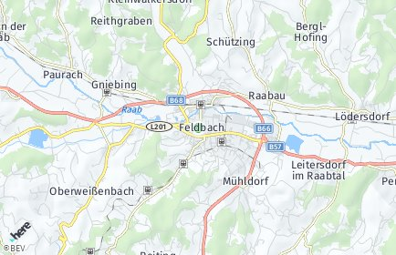 Stadtplan Feldbach OT Paurach
