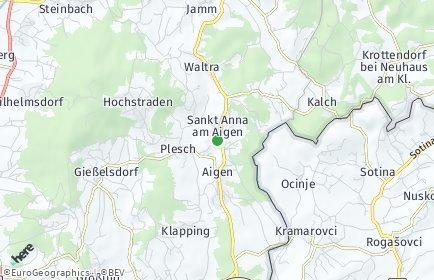 Stadtplan Sankt Anna am Aigen OT Klapping