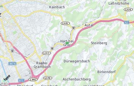 Stadtplan Hart bei Graz