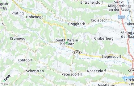 Stadtplan Sankt Marein bei Graz