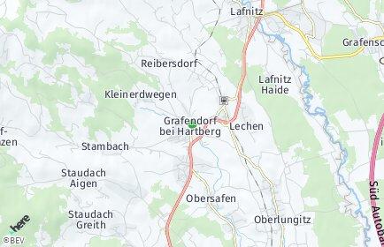 Stadtplan Grafendorf bei Hartberg OT Untersafen