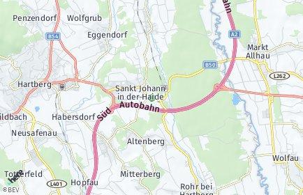 Stadtplan Sankt Johann in der Haide