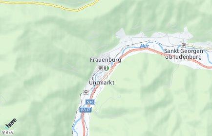Stadtplan Unzmarkt-Frauenburg