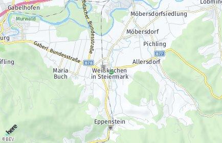 Stadtplan Weißkirchen in Steiermark