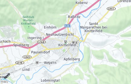 Stadtplan Knittelfeld OT Apfelberg