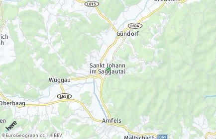 Stadtplan Sankt Johann im Saggautal OT Praratheregg