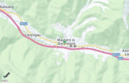 Stadtplan Mautern in Steiermark