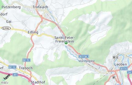 Stadtplan Sankt Peter-Freienstein