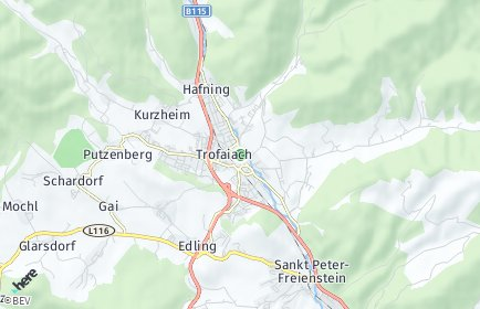 Stadtplan Trofaiach OT Unterkurzheim