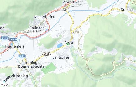 Stadtplan Aigen im Ennstal