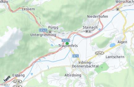 Stadtplan Stainach-Pürgg