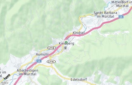Stadtplan Kindberg OT Kindberg