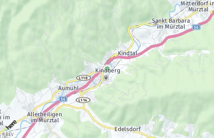 Stadtplan Kindberg OT Kindbergdörfl