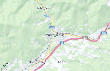 Stadtplan Mürzzuschlag OT Pernreit