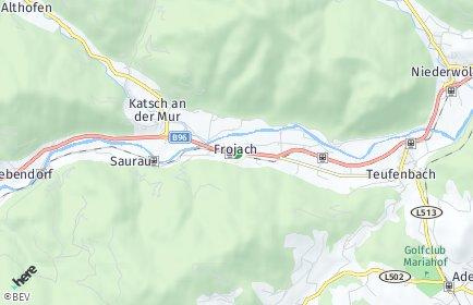 Stadtplan Teufenbach-Katsch