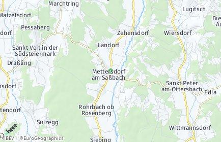 Stadtplan Mettersdorf am Saßbach